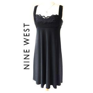 Nine West Lace sweetheart Black Dress